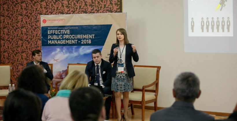 Olga Silvestrova presenting at our procurement conference in Kyrgyz