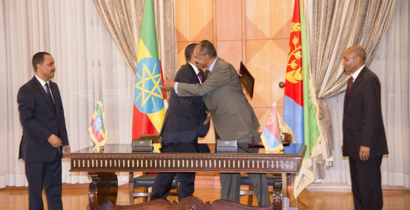 Ethiopia and Eritrea sign joint peace agreement