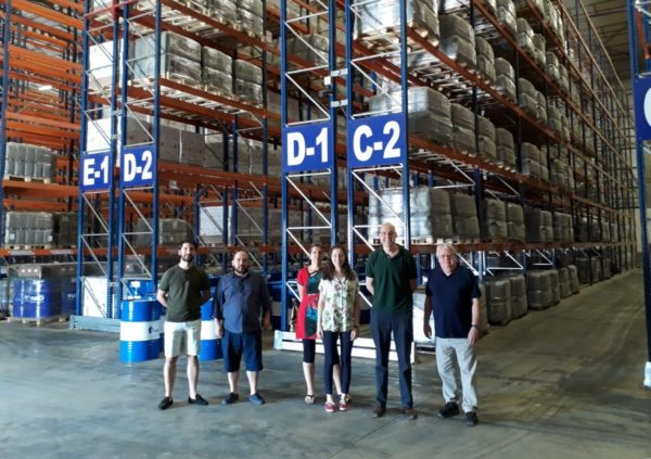 Fergus visits our warehouse in Turkey