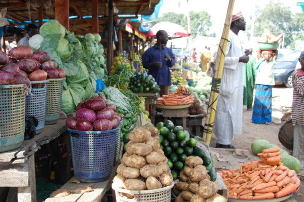 Market stall in Nigeria.
