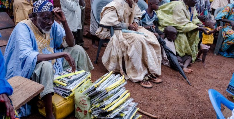 Village chiefs receive learning materials