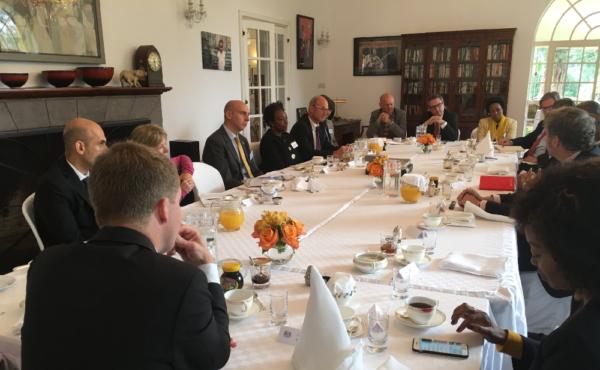 Attendees at Russell Reynolds solutions breakfast in Kenya
