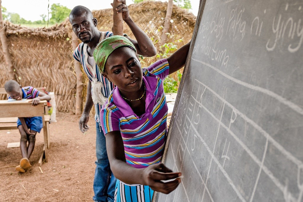 Photo of Ghanaian student in the Complementary Basic Education Programme